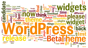 WordPress word wordle art