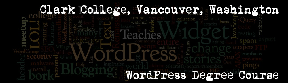 Lorelle teaches WordPress and more at Clark College