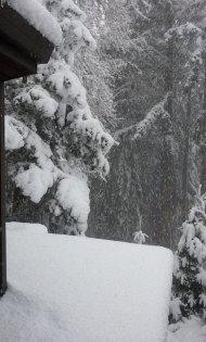 Snow next to the VanFossen home