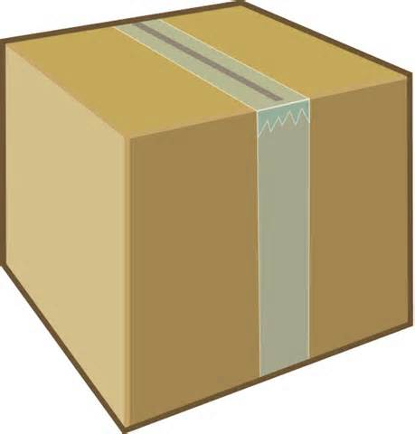 Graphic of a Large Cardboard box.