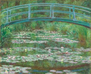 Monet painting of stream under Japanese Bridge in Garden - Library of Congress.