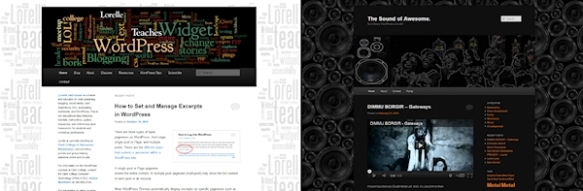 Comparing the same 2011 WordPress Theme - the light and the dark version - totally different.