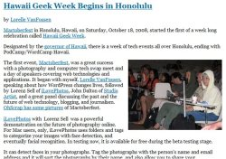 Example of a blog post with the paragraphs broken up into smaller sections.