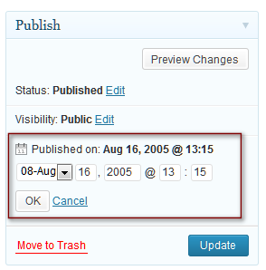 WordPress Schedule future post feature allows you to set the date and time the post or Page will publish.
