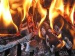 fire flames logs