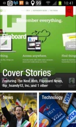 Example of Flipboard for mobile users translating the feed into a portable magazine.