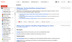 Example of a feed in Google Reader.