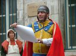 history making an announcement medieval