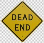 sign dead end