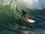 surfing man on wave